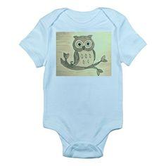 Vintage Owl Infant Bodysuit #baby onesie