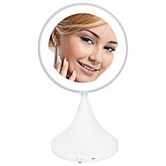 Portable Vanity Mirror With Lights Stunning Trifold Led Lighted Makeup Mirror Vanity Comestic Mirrors Portable Design Ideas