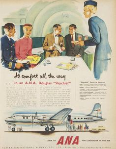 Australian National Airways (ANA) was Australia's predominant carrier from the mid-1930s to the early 1950s.