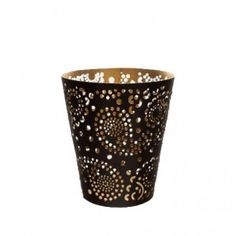 6 x Metal black and gold vase tealight holders - £2.45 each