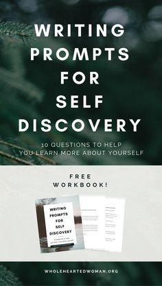Writing Prompts For Self-Discovery | Personal Growth & Development | Life Advice | Free Workbook