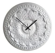 """""""Desire/Acquire: Ceiling Medallion Clock"""" -- shown is a clock you can order, but click through for DIY instructions for making a similar one yourself."""