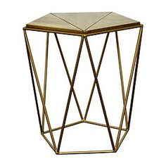 Dunelm Exclusive - Designed and Developed by DunelmInspired by clean, simplistic styling, this fully assembled side table features a mango wood top and a stylish, brass effect finished frame. Side Table Decor, Brass Side Table, Long Side Table, Side Tables, Pine Coffee Table, Wood Accents, Table Furniture, Home Decor, Furniture