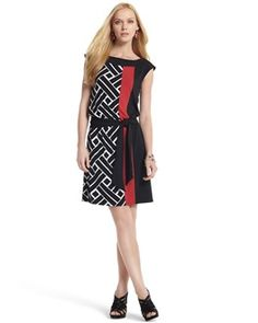 "Combining geometric pattern with color blocking. Even WHBM had to add some ""other"" color this season!"