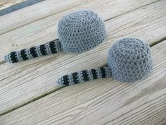 Coon Skin Cap Raccoon hat Crochet PATTERN PDF. $3.99, via Etsy.