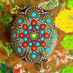 "40 Likes, 4 Comments - Liona Hotta Stones (@lionahottastones) on Instagram: ""In process #mandala #stoneart #paintedrock #paintedpebbles #mandalaart #seastone"""
