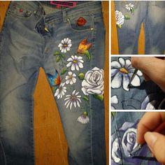 Pantalon pintado a mano alzada