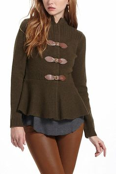 Love the preppy feel of this cardigan. Maybe next year? Buckle & Bridle Cardigan #anthropologie