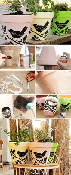 40+ DIY Flower Pot Ideas | Art and Design