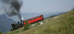The Schafbergbahn runs both diesel and steam locomotives on the 4-mile line which climbs 3,904 feet (1,190m) from St Wolfgang on Austria's Wolfgangsee. The journey is included on our Austrian Lake District tour. http://www.greatrail.com/tours/austrian-lake-district.aspx