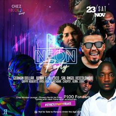 It's Official! Here's your Neon Party line-up in no particular order! Fix your neon color outfits. Neon Party, Fix You, Colourful Outfits, Dj, Lyrics, Color, Fashion, Moda, Fashion Styles