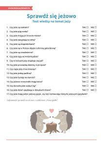 Dzień Jeża – test wiedzy o jeżach