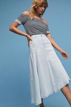 Citizens of Humanity Raquel Frayed Denim Skirt