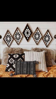 Southwest Decor, Southwestern Decorating, Southwest Bedroom, Rustic Walls, Rustic Wall Decor, Rustic Bedrooms, Rustic Wood, Tribal Decor, Bohemian Decor