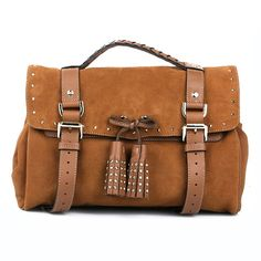New In: Mulberry's Tassel Bag Heavy Suede Oak — Fashionette