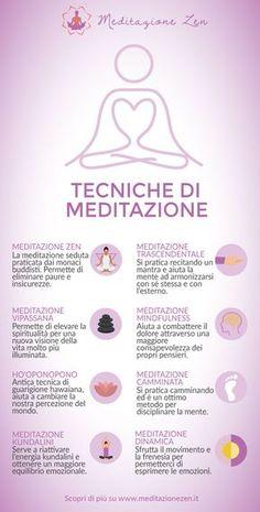 Le 8 principali tecniche di meditazione: https://www.meditazionezen.it/8-tecniche-di-meditazione-infografica