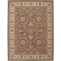 Add a classic touch to your home decor with this traditional wool rug Floor rug is inspired by the incomparably elegant carpets of 17th Century Persia  Area rug is made of 100-percent New Zealand wool