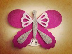 Disco orario feltro farfalla