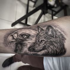 eagle and wolf tattoo