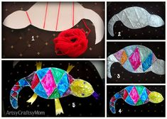 Mixed up chameleon -  Crafting with Aluminium Foil  #EricCarle #TinFoil #FoilCraft #StainGlass