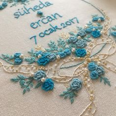 "388 Likes, 5 Comments - Yasemin (@pembe_kaktus) on Instagram: ""Mavi  #embroidery #embroideryartist #embroiderydesign #nakıs #nisantepsisi #nisanbohcasi…"""