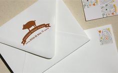 Pig Return Address Stamp  A Perfect Gift for a New by RossoStampCo, $48.00