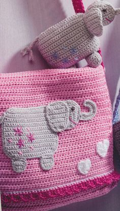 lief tasje met olifantje