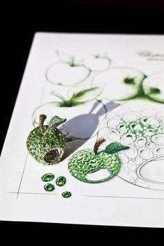 Chopard Apple Ring - with Brown Diamonds and Tsavorite Garnets