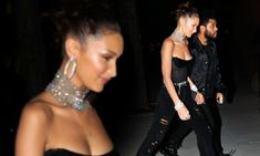 Bella Hadid slips into black corset top at 22nd birthday party with beau The Weeknd Black Corset Top, Black Bra, The Weeknd Birthday, 22nd Birthday, Bella Hadid Birthday, Alana Hadid, Bella Sisters, Sparkly Belts, Girls Slip