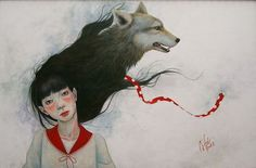 Little Red Riding Hood by Akiko Ijichi - This hair's good, I like