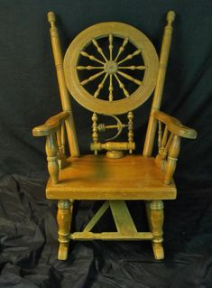 Antique Country Spinning Wheel Rocker Nice!