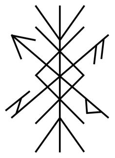 Protection Bind Rune Ancient Protection Symbols, Protection Rune, Pagan Symbols, Symbols And Meanings, Viking Symbols, Celtic Runes, Ancient Runes, Norse Runes, Norse Pagan