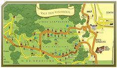 Map Vale dos vinhedos Winevalley brasil