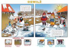 Niech żyją ferie zimowe bezpieczne i zdrowe! - Szkolne Blogi Comic Books, Baseball Cards, Comics, Cover, Art, Art Background, Kunst, Cartoons, Cartoons