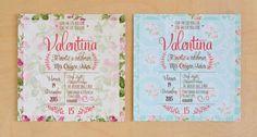 Invitación 15 años floral 4 Diy Party, Ideas Para, Party Invitations, Floral, Google, Printables, Facebook, 15 Years, Vestidos