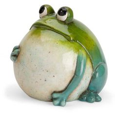 Read reviews and buy Wind & Weather Hand-Painted Indoor/Outdoor Big Belly Ceramic Frog Sculpture at Target. Choose from contactless Same Day Delivery, Drive Up and more. Pottery Animals, Ceramic Animals, Clay Animals, Frog Statues, Garden Statues, Animal Statues, Pottery Sculpture, Sculpture Clay, Sculpture Ideas