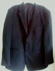 Jos A Banks Black 2 Button Camelhair Blazer Sport Coat Mens 46L #JosABanks #TwoButton