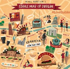 An Illustrated Hipster Food Map – Edible Dublin