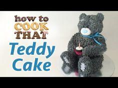 TEDDY BEAR CAKE by Ann Reardon How To Cook That Teddy Birthday Cake - YouTube