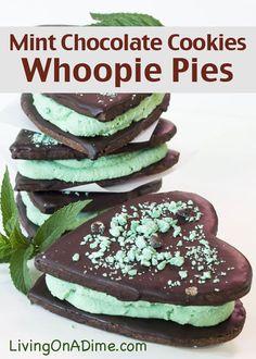Whoopie Pies - Mint Chocolate Cookies Recipe