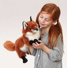 In a standing position with good looks, this vulpine charmer will brighten your day! Red Fox puppet features a movable mouth. Bucking Bulls, Puppet Show, Dramatic Play, Red Fox, Plush Animals, Brighten Your Day, Puppets, Puppet Toys, Stocking Stuffers