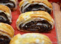 Francuskie zawijańce z makiem Vegan Desserts, Baking, Ethnic Recipes, Poppy, Food, Polish, Vitreous Enamel, Bakken, Essen