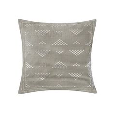 INK+IVY Cario Embroidered Square Pillow ($30) ❤ liked on Polyvore featuring home, home decor, throw pillows, taupe, square throw pillows, taupe throw pillows, geometric throw pillows and embroidered throw pillows