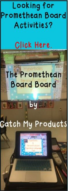 Promethean board activities for all subjects can be found on this Pinterest board. Please find and follow the Promethean Board Board from Catch My Products!