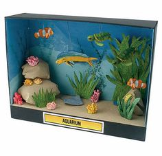 Making a ocean diorama is a fun way to learn about life in the sea. These under the sea dioramas are fun to make and look great. School Projects, Projects For Kids, Art Projects, Project Ideas, Ocean Projects, Animal Projects, Shoe Box Diorama, Diorama Ideas, Ocean Diorama