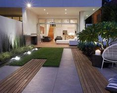 Small space Backyard with Garden
