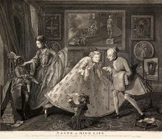 Taste in High Life. Painting by William Hogarth engraving by Sam Phillips, Published by Boydell. 15 x 18 inches. Davidson Galleries, William Hogarth, 18th Century Costume, Social Class, English Artists, Fine Art Prints, Canvas Prints, May 1, Heritage Image