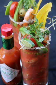 Bloody Maria or Bloody Mary Shrimp Ceviche.oh my gosh I don't even know whether to pin this under food or booze! Seafood Recipes, Mexican Food Recipes, Cooking Recipes, Ethnic Recipes, Seafood Dishes, Shrimp Ceviche, Ceviche Recipe, Summer Drinks, Fun Drinks