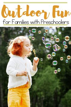 Get outdoors this spring, play, and explore nature with your preschoolers. These outdoor preschool activitiesare fun for the whole family!