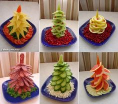 food decoration New Year Food Crafts, Diy Food, Comida Diy, Creative Christmas Trees, Xmas Trees, Christmas Holiday, Christmas Cookies, Holiday Fun, Christmas Ideas